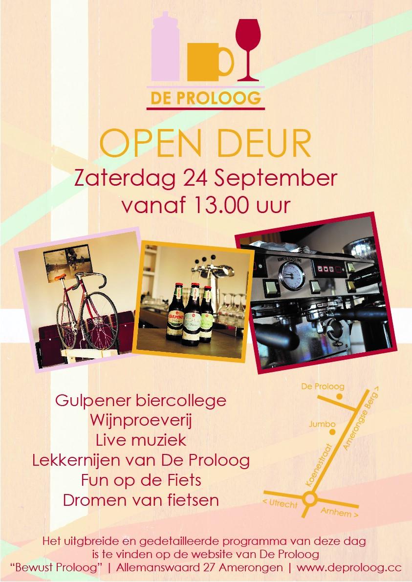 De Proloog Open Deur flyer