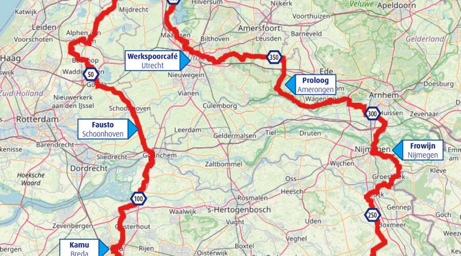 kaart Tour Café du Cycliste Virtueel
